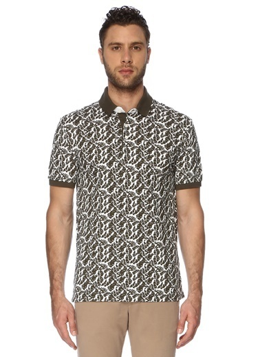 George Hogg Erkek 7003329 Polo Yaka Slim Fit Tshirt Beyaz